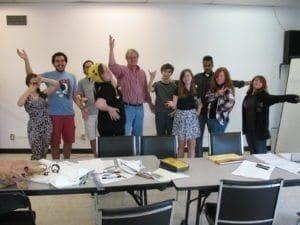 wWorkshop students with Kent Burles .