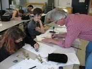 Kent Burles with workshop students...
