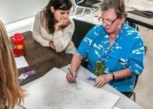 Tina Seemann teaching cartooning!