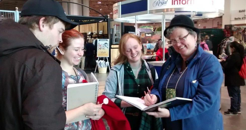 Tina at The Royal Winter Fair with MTM students