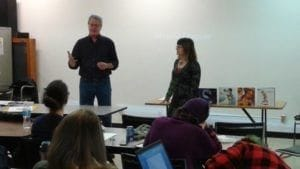 Kent Burles introducing Mirielle