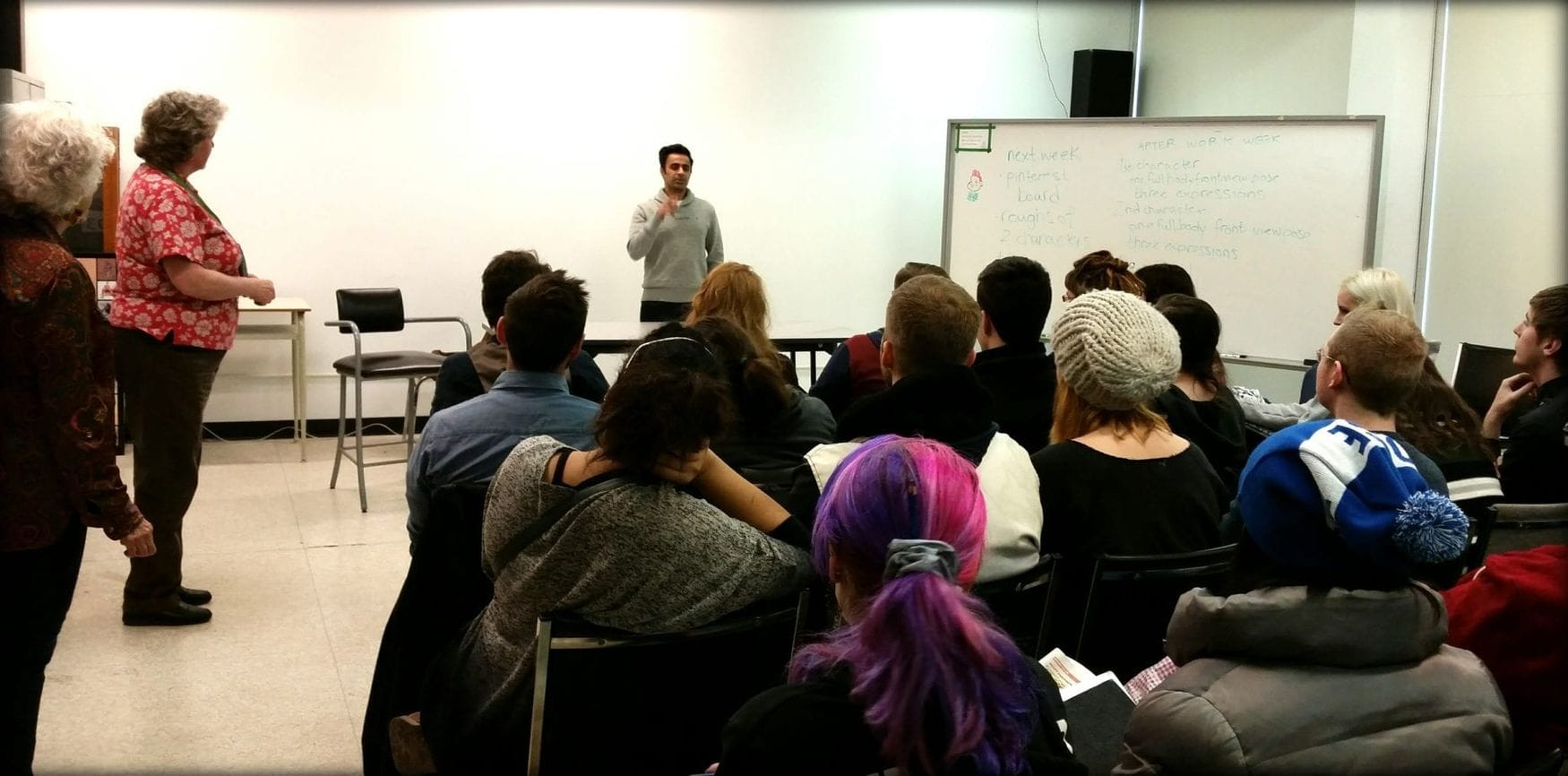 Director Tahir Rana Speaks to animation and concept art students at max the Mutt!