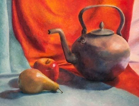 Tatiana Ermekova, still life on canvass, year 1 painting