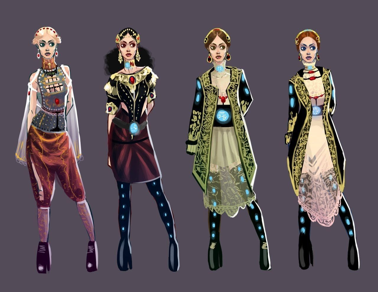 Character designs by Melissa Lodu