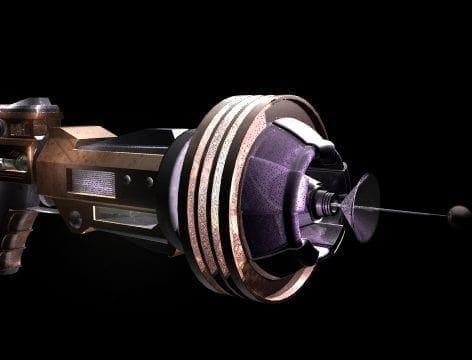Ray gun 3D model Julia Bystrova