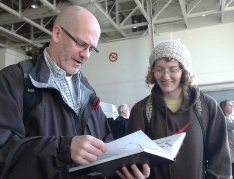 Ed Shawcross with MTM student at Royal Winter Fair