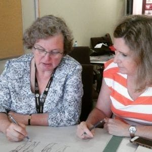 Workshop Students praise MTM's Cartooning Tina Seemann