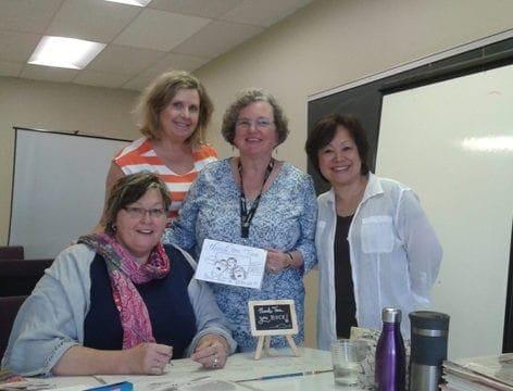 Workshop Students praise MTM's Cartooning Tina Seemann