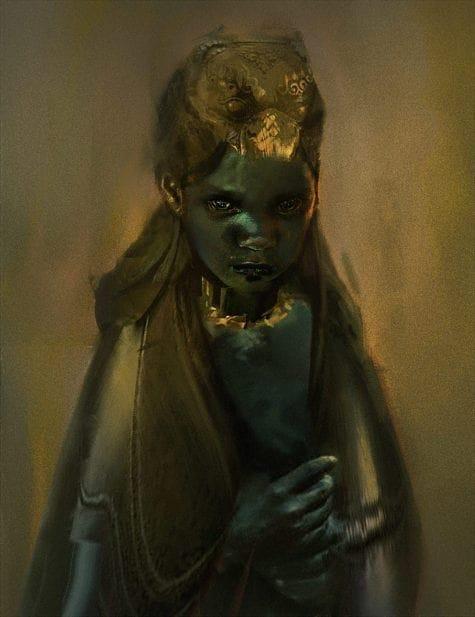 Dhenzel Obeng char 2 - girl_take 2-bust art