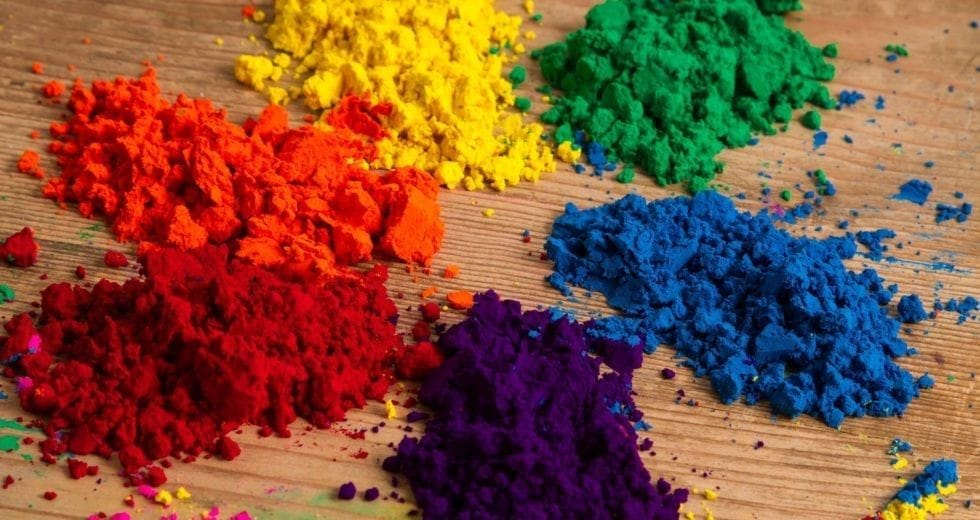 Introduction to colour theory colour powders | Max The Mutt