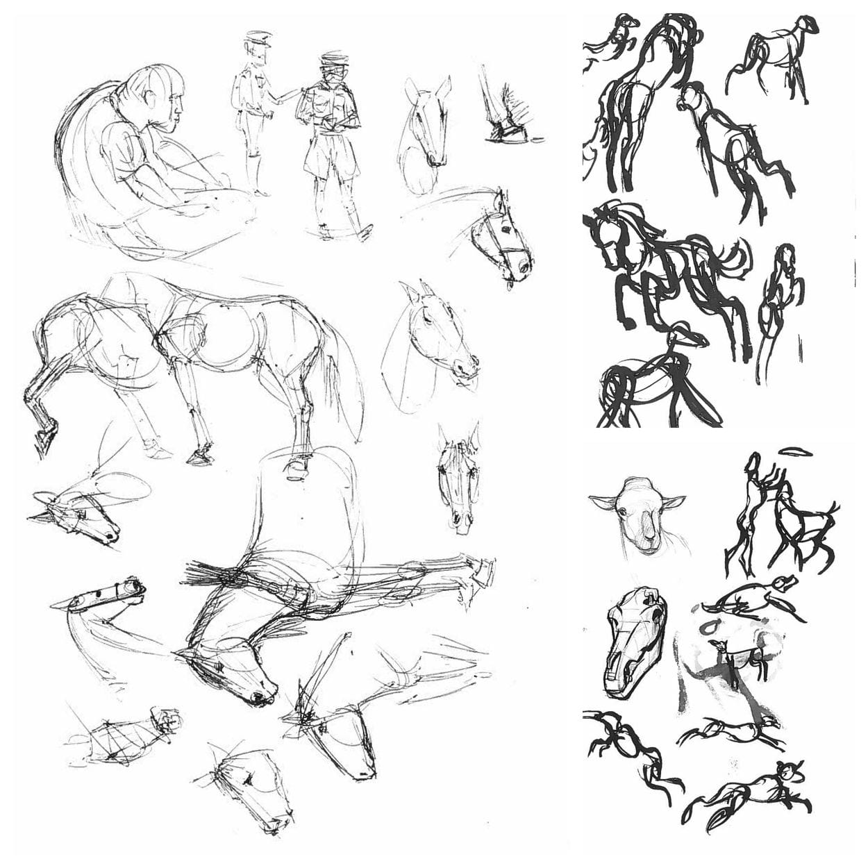 Royal Winter Fair 2018 sketches - by year 3 Illustration student Theo Murgan & year 3 Concept Art student Soho Park