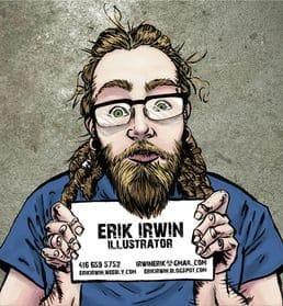 Illustration for Sequential Arts graduate Erik Irwin
