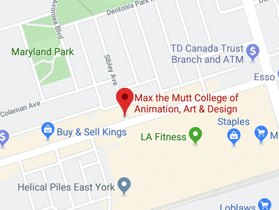 Google Map of max the mutt animation school