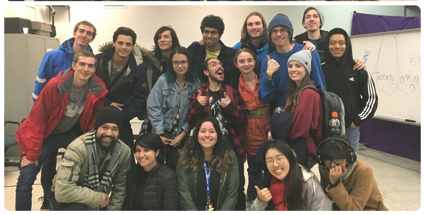 Aaron Long Animator and Director, visits student at Alma Mater, Max the Mutt