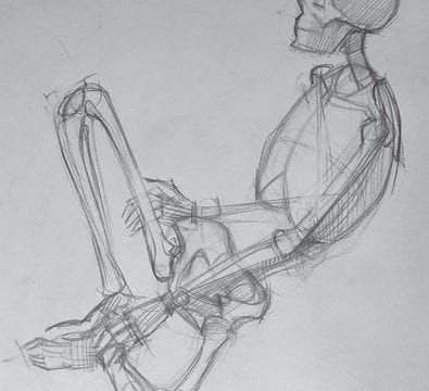 An advanced life drawing by Max the Mutt student Kristiyan Bechav. Learn the fundamentals of life and representational drawing with our Fall portfolio development workshop.
