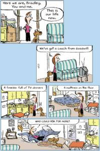 Webcomic designed by cartoonist Carla Ventresca