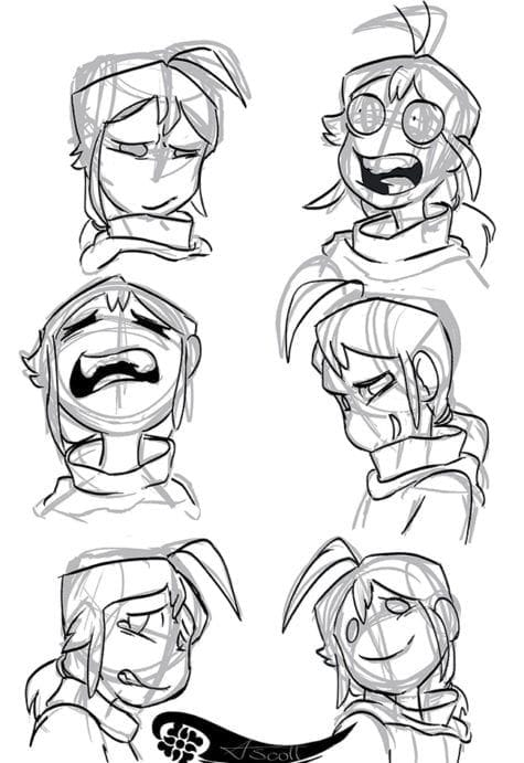 Angelic Scott Andy expression sheet 2