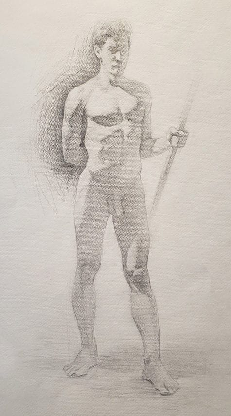 Sergei Iranzo_Figurative Drawing for Sustained Pose_CA 3
