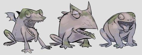 Eden Armstrong rough frog gargoyles