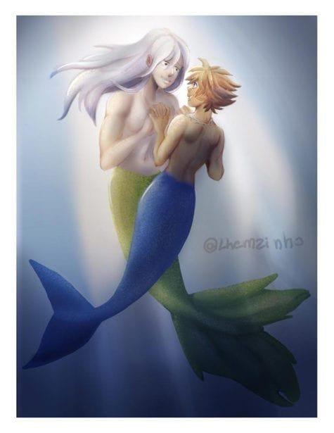 Len sora_riku_mermaids