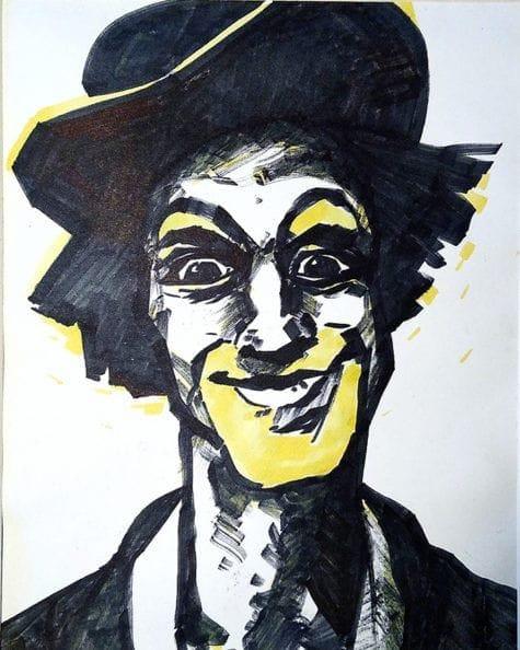 Donna Johnson Clown painting