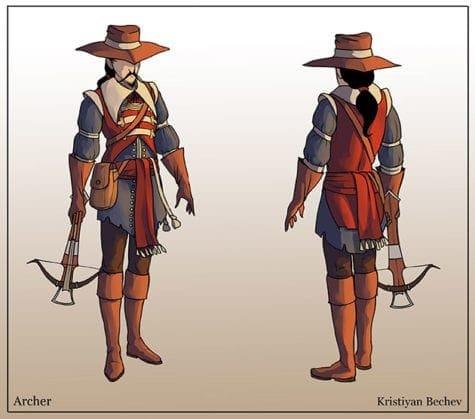 Kristiyan Bechev_Character Design_CA3_2020_archer2